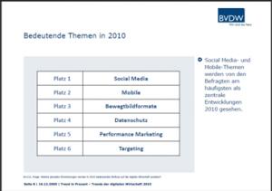 Zentrale Themen der digitalen Wirtschaft